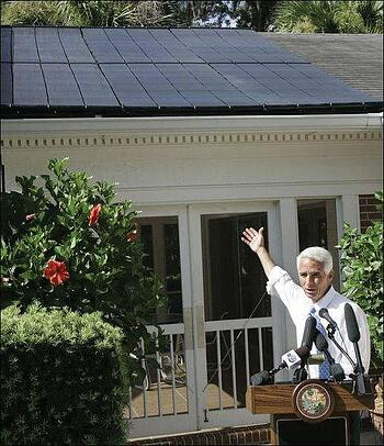 Governor Crist Mansion solar panel