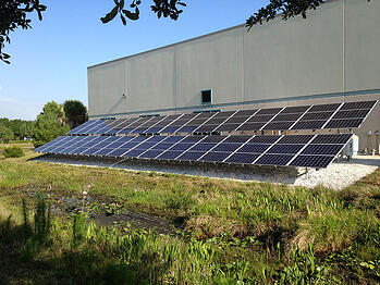 Sarasota County Solar Power PV Array