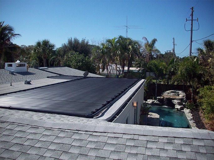 Pool Solar Flat Roof