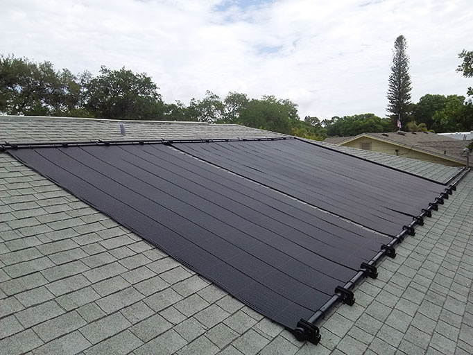 Solar Pool Heating (Shingle Roof)